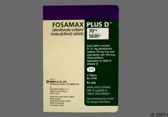 White Rectangular Dose Pack 270 And Logo - Fosamax Plus D 70mg-5600units Tablet