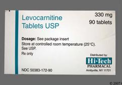 Levocarnitine Coupon - Levocarnitine 330mg tablet