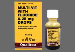 Multivitamin With Fluoride Coupon - Multivitamin With Fluoride 50ml of 0.25mg/ml dropper