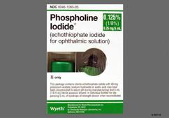 white - Phospholine Iodide 0.125% Ophthalmic Powder for Reconstitution