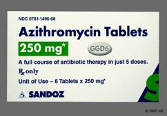 White Oval Ggd6 - Azithromycin 250mg Tablet (6ct Blister Card)