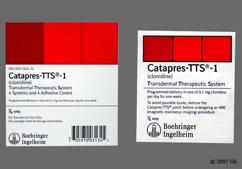 Tan Square Carton Logo Bi 31 - Catapres TTS-1 Transdermal System