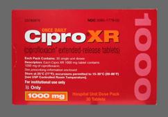 White Oblong Tablet Bayer And C1000 Qd - Cipro XR 1000mg Extended-Release Tablet
