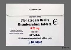 White Round Orally Disintegrating Tab K6 - Clonazepam 0.25mg Orally Disintegrating Tablet