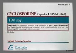 Yellow Capsule E0933 - Cyclosporine (modified) 100mg Capsule