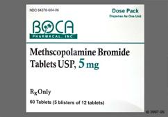 White Oval Tablet 604 And Boca - Methscopolamine Bromide 5mg Tablet