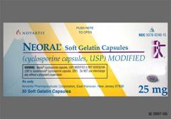 Gray Capsule Neoral 25Mg - Neoral 25mg Capsule