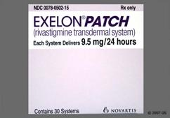 Beige Rectangular Carton Exelon Patch 9.5 Mg/24 Hours Bhdi - Exelon 9.5mg/24hr Transdermal Patch