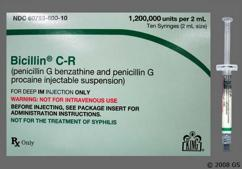 Bicillin CR Coupon - Bicillin CR 10 syringes of 1.2 million units per 2ml package