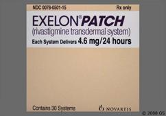 Beige Rectangular Carton Exelon Patch 4.6 Mg/24 Hours Amcx - Exelon 4.6mg/24hr Transdermal Patch