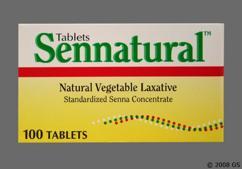 brown round tablet - Sennatural 8.6mg Tablet
