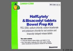 Pink Round Kit Bra - HalfLytely and Bisacodyl Delayed-Release Tablet Bowel Prep Kit (Lemon-Lime)
