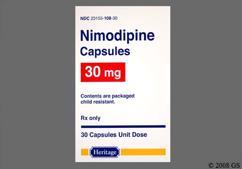 White Capsule H108 - Nimodipine 30mg Capsule