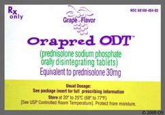 White Orally Disintegrating Tab 30 And Ora - Orapred ODT 30mg Orally Disintegrating Tablet