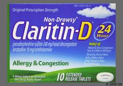 White Round Tablet Claritin D 24 - Claritin-D 24 Hour 10mg-240mg Extended-Release Tablet