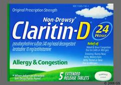 White Oblong Tablet Claritin-D 24 Hour - Claritin-D 24 Hour 10mg-240mg Extended-Release Tablet