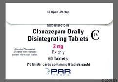 White Round Orally Disintegrating Tab K9 - Clonazepam 2mg Orally Disintegrating Tablet