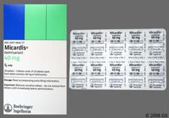White Oblong Tablet Logo And 51H - Micardis 40mg Tablet
