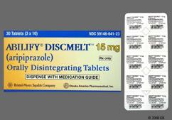 Yellow Round Orally Disintegrating Tab 15 And A 641 - Abilify Discmelt 15mg Orally Disintegrating Tablet
