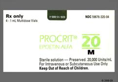 Procrit Coupon - Procrit 1ml of 20000 units/ml vial