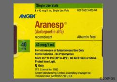 Aranesp Coupon - Aranesp 4 vials of 40mcg/ml carton