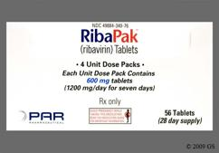 Blue Oblong Dose Pack 3Rp And 600 - RibaPak 1200mg/day Compliance Pack Tablet