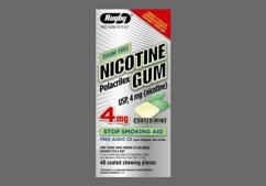 yellow square gum - Nicotine Polacrilex 4mg Chewing Gum (Mint)