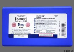 Pink Round Tablet 5 - Lisinopril 5mg Tablet