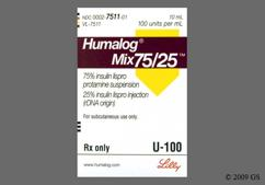 Humalog 75/25 Coupon - Humalog 75/25 10ml of 100 units/ml vial