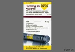 Humalog 75/25 Coupon - Humalog 75/25 five 3ml kwikpens of 100 units/ml carton
