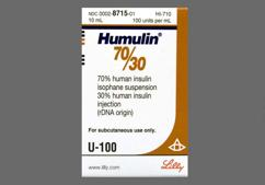 white - Humulin 70/30 Suspension for Injection