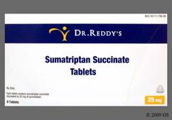 Sumatriptan Coupon - Sumatriptan 9 tablets of 25mg dose pack