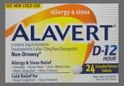 Alavert D Coupon - Alavert D 12 hour tablet