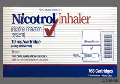 yellow - Nicotrol 10mg Inhaler