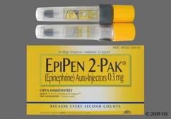 colorless - Epipen 2-Pack Auto-Injector 0.3mg/0.3ml Solution for Injection