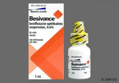 Besifloxacin Coupon - Besifloxacin 5ml of 0.6% eye dropper