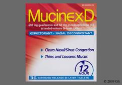 White And Orange Oval Mucinex And 600 - Mucinex D 600mg-60mg Extended-Release Tablet