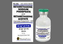 Betamethasone Sodium Phosphate/Betamethasone Acetate Coupon - Betamethasone Sodium Phosphate/Betamethasone Acetate 5ml of 6mg/ml vial