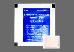 Tan Modified Rectangle Carton B 1009 - Clonidine 0.1mg/24hr Transdermal System
