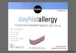 White Oblong Tablet L232 - Publix Dayhist Allergy 1.34mg Tablet