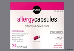 Pink And White Capsule L462 L462 - Publix Allergy 25mg Capsule