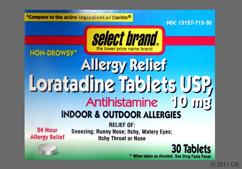 White Round Tablet Rx 526 - Select Brand Loratadine 10mg Tablet