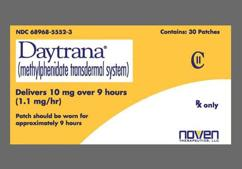 Colorless Square Daytrana - Daytrana 10mg/9hr Transdermal System