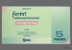 White Oval Package Logo, 145, And Wc - Femhrt Low Dose 0.5/2.5 Tablet