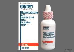 Hydrocortisone / Acetic Acid Coupon - Hydrocortisone / Acetic Acid 10ml of 1%/2% ear dropper