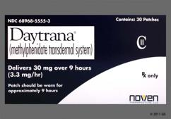 Daytrana Coupon - Daytrana 30 patches of 30mg package
