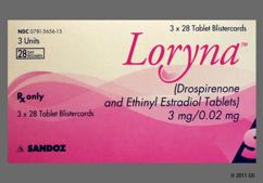 Loryna Coupon - Loryna 28 tablets of 3mg/0.02mg package