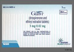 Gianvi Coupon - Gianvi 28 tablets of 3mg/0.02mg package