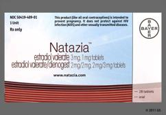 White Round Dt - Natazia Tablet