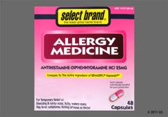 Pink And White Capsule 44-107 44-107 - Select Brand Allergy Medicine 25mg Capsule